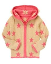 NWT Gymboree Star of the show Sweater SZ 5/6 Gold Star Cardigan Jacket Hoodie