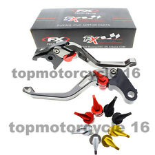 FXCNC Gray 3D Rhombus Brake Clutch Lever For BMW R1200GS Adventure (LC) 14 15 16