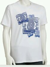 New Mens DC Shoe Co White Tee with Blue Graphics LARGE NWT $24.00