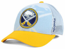 REEBOK NHL BUFFALO SABRES SECONDARY DRAFT WHITE/YELLOW SANPBACK HAT CAP NEW
