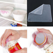 Re-usable Silicone Wrap Seal Cover Stretch Cling Film Tool Food Fresh Keeping