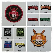 Pantera Patch Sew Iron On Embroidered Free Shipping Rock Band Heavy Metal Music
