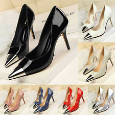 Fashion New Office Lady Stiletto Metal Pointed Toes Pumps Women High Heels Shoes