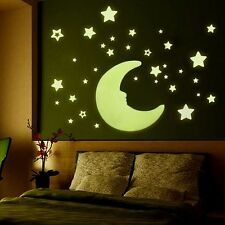 Home Wall Glow In The Dark Stickers Star Baby Kid's Bedroom Nursery Room Decor