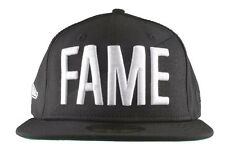 Hall Of Fame Black White New Era 59FIFTY FAME Fitted Baseball Hat Cap NWT