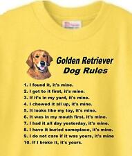 T-Shirt Dog Men - Golden Retriever Dog Rules 5 Colors Great Gift # 244 Adopt