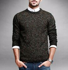 Warm Mens Round Neck Long Sleeve Sweater Solid Cotton Knitted M~XXL Mixed color