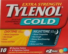 Tylenol Extra Strength Cold 6 Daytime 4 Nighttime eZ TABS