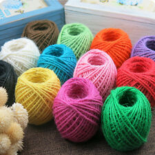 Cotton linen 25M 1 Roll Jute String Hemp Rope for Necklace Making DIY Gift Decor