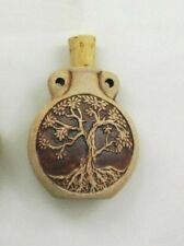 Ceramic Pottery Bottle or Vessel, High Fired Tree of Life Design