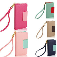 R Hot PU Leather Phone Case Cover Wallet Card Holder Pouch Flip for iPhone 5S