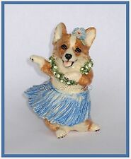 KIMMEL ORIGINAL CORGI SCULPTURES ~ Corgi Hawaiian Hula Dancer  *OOAK*