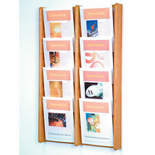 Stance 8 Pocket Wall Display Wood Literature Display Magazine Rack Catalog Rack