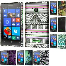 For Nokia Microsoft Lumia 435 Snap-On Design Rubberized Hard Phone Case Cover