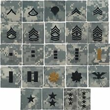 ACU Digital Camouflage US Army Military Rip-Stop Rank Insignia Patch USA Made