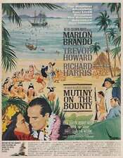 1962 Mutiny on the Bounty Promo: Marlon Brando, Trevor Howard Print Ad (19660)