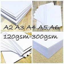 A2 A3 A4 WHITE CARD WEDDING BLANKS CRAFT DECOUPAGE STOCK PAPER PRINTER 300gsm UK