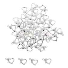 50x Silver Gold Plated Lobster Claw Clasps Hook DIY Necklace Jewelry Fastener
