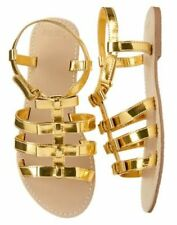 NWT Gymboree Island Hopper Gold Strap Sandals shoes 10 11 12 13 1 2 3 4 Girls
