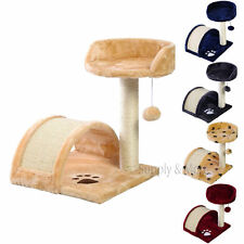 Deluxe Cat Tree Level Condo Furniture Pet Play House Scratching Post Kittens NEW