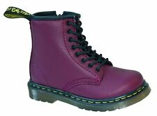 Original Doc Dr Martens Kids shoes 8-hole Brooklee Cherry Red with Zip 15373601