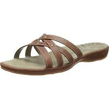 Keen Womens City of Palms Leather Strappy Casual Slide Sandals Shoes