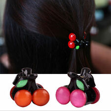 Lovely Bow Fashion Cherry Hairpin Girl Headdress Clips Hair Accessories