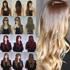 28 inch AS Real Women Hair 100% Long Heat Resistant Synthetic Hair Full Wigs hj