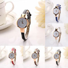 New Fashion Womens Quartz Analog Leather Band Stainless Steel Ladies Watch Gift