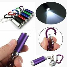 Carabina Torch LED Light Retracted Keyring Flashlight Lamp Key Chain