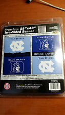 "North Carolina UNC Tar Heels & Duke Blue Devils 28"" x 40"" Double Sided Banner"