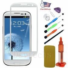 Outer Front Screen Glass Lens Replacement/Tools/UV Glue for Samsung Galaxy S3