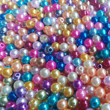 50-200 Mixed Glass Pearl Round Loose Spacer Bead Finding Craft 4/6/8/10/12mm DIY