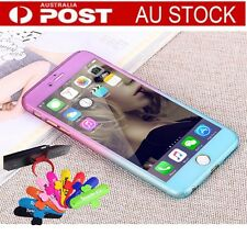 Lovely 360 Full Body Hard Back Protective Case + Tempered Glass For iPhone