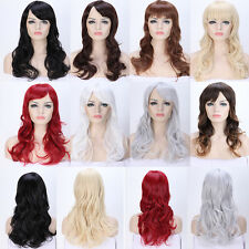 Long Hair Costume Full Wig With Bangs Natural Looks AS Real Hair Two Tone Wigs