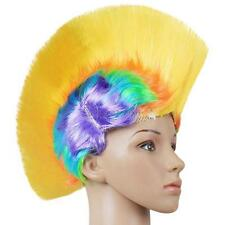 Any Size Elasticated Mohawk Hair Wig Mohican Punk Rock Fancy Dress Party Costume