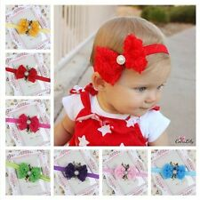 Fashion Hot Items Lace Flower Headband Rose Bow Newborn Hairband Baby Darling