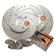 Rear  Drilled & Slotted Brake Rotors & Low Dust Ceramic Pads MAXMBKG21464DS