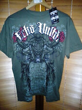 NEW! Ecko Unltd Vendetta Mens Mixed Martial Arts T-Shirt - Green Silver - UFC