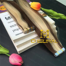 16inch Ombre Brown mix Lightest blonde weave Remy Tape in Human Hair Extensions