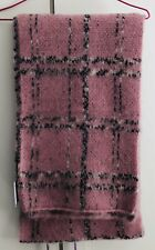 Topshop Baby Pink Check Print Large Oversized Acrylic Scarf Fringed RRP £25