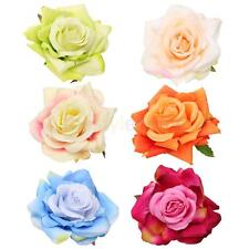 Large Fabric Rose Floral Hair Clip Pin Bridal Accessories Brooch Groom Corsage