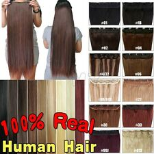 ✿UK One Piece Real Human Hair Clip In Remy Human Hair Extensions HQ Weft JY160