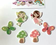 Exclusive Flatback Resin Fairy Butterfly Toadstool Cabochons Decoden Crafts
