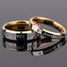 R Couple Men Women Forever Love Wedding Engagement Band His Her Promise Rings
