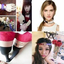 Harajuku Rivet Goth Funky Punk Leather Necklace Collar Choker Heart