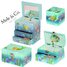 Mele & Co Mermaid Musical Jewellery Ring Chain Necklace Box Display
