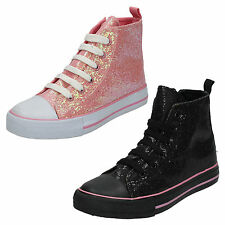 Wholesale Girls Hi-Top Glitter Pumps 14 Pairs Sizes 10-2  H4093