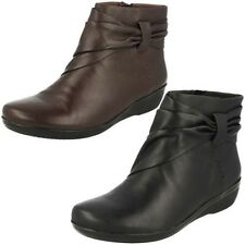 Ladies Clarks Ankle Boots Black Leather 'Everlay Mandy'