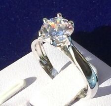 Engagement Ring: 1.25ct Simulated Diamond, Wedding Ring, Real 925 Silver, #4-12